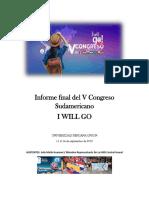 Informe Final Del v Congreso Sudamericano