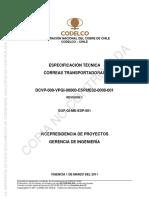 Especificación Técnica Correas Transportadoras