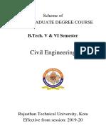 B.Tech civil 3rd year syllabus, RTU