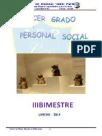 Personal Social de 3º Grado i Bimestre - Lady - 2014 (2)