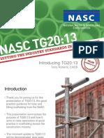 Introducing TG20 13 Presentation May 2017