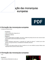 A Formação Das Monarquias Europeias