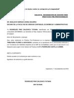 Solicitud de Designacion Para Asesor de Practicas Pre Profesionales