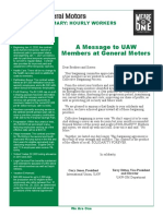 UAW contract summary with GM