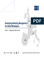 DEVELOPING MARKETING MANAGEMENT IN THE GLOBAL MARKET