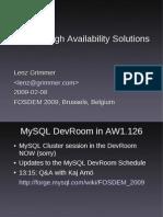 FOSDEM-MySQL-HA-2009-02-08