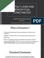 Gestalt Laws and Perceptual Constancies