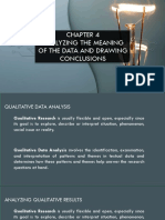 Analyzing the Meaning of Data and Drawing Conclusion