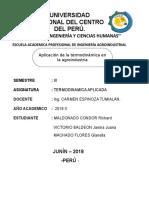 Aplicacion de La Termodinamica en La Agroindustria