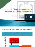 Cálculo de Personal de Enfermería y Cálculo De