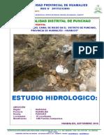 Estudio Hidrologico Punchao - Final Septiembre 2016