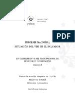 Informe Nacional Situacion de VIH en El Salvador 2018
