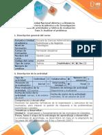 Guía de Actividades y Rúbrica de Evaluación Fase 3 - Analizar El Problema
