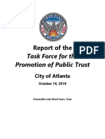 Report of the Task Force for the Promotion of Public Trust
