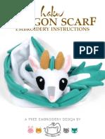 Haku Scarf Embroidery Instructions