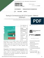 Testing & Commissioning of CCTV Camera