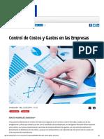 Control de Costos y Gastos en Las Empresas Mundo Ejecutivo