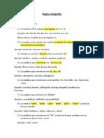 Reglas ortografía