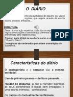 8ºano - Português - As Características do Diário