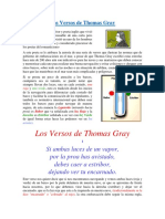 Los Versos de Thomas Grey