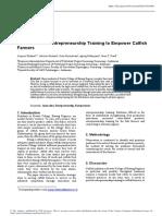 Innovation and Enterpreneurship Training To Empower Catfish Farmers