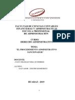 Procedimiento Administrativo Sancionador Entre 13 Julio