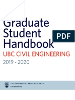 Graduate Student Handbook - 2019 0