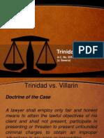 Trinidad vs Villarin