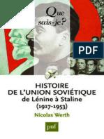(Que sais-je _) Nicolas Werth-Histoire de l'union soviétique de Lénine à Staline (1917-1953)-PUF (2013).epub