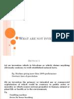 Non Patentable Inventions
