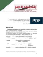 LA INFLUENCIA DE DIFERENTES PEDAGOGOS EN LOS INSTRUMENTOS DE PERCUSIÓN