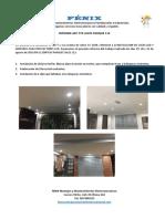 INFORME INSTALACION LUCES, FOTOCELDA Y SENSOR DE MOVIMIENTO PARA REFLECTORES