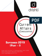 Monthly Current Affairs Consolidation (Sept 2019) Part I
