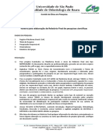 Roteiro Relatorio Final Pesquisa Plataforma Brasil