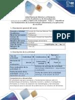 Guía de Actividades y Rúbrica de Evaluación - Fase 1 – Identificar Los Fundamentos de La Biotecnología Alimentaria y La Aplicación de Enzimas-1