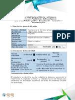 Guía de Actividades y Rubrica de Evaluación - Escenario 1 - Reconocimiento