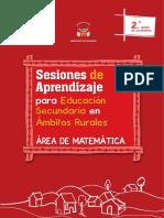 Sesiones de Aprendizaje Para Educación Secundaria en Ámbitos Rurales, Área de Matemática. 2do. Grado de Secundaria