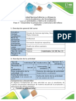Guia de actividades y rúbrica de evaluación - Paso 3 - Desarrollar la Proyección y estructura del relleno sanitario
