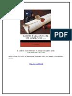 eBook E. Lambert - Cours Elementaire de Geologie a Lusage Des Lycees
