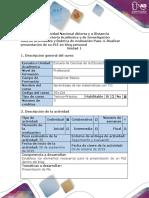 Guía de actividades y rúbrica de evaluación - Paso 4 - Realizar presentación de su PLE en blog personal.docx