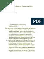 La Religion en La Esfera Publica Chilena - Ana Maria Stuven