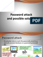 Password attack and possible solution
