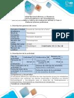 Guía de Actividades y Rúbrica de Evaluación - Fase 4 - Informe Preliminar