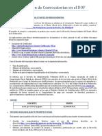 Publicación de Convocatorias en El DOF
