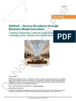 WeWork - Service Excellence Through Business Model Innovation (INSEAD CASE)
