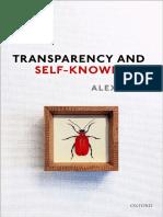 Alex Byrne - Transparency and Self-Knowledge-Oxford University Press (2018)