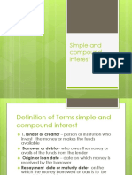 Accting PPT Simple and Compound Interest