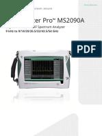 Anritsu Field Master Pro MS2090A Product Brochure 11410-01103E