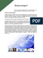 La Biotecnología en El Sector Agrícola