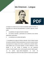 Ralph Waldo Emerson - Lengua